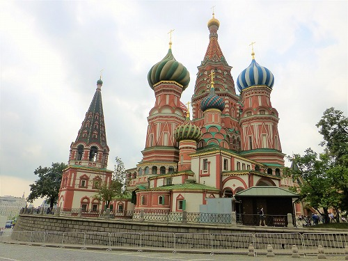 ロシア・モスクワのワシリー寺院(ポクロフスキー聖堂)