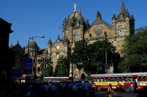 インド・ムンバイのチャトラパティ・シヴァージ―・ターミナス駅