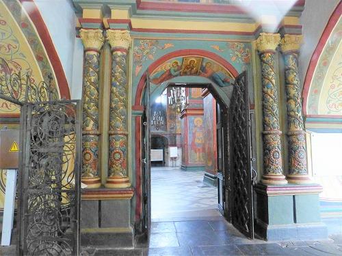 ロシア・モスクワにあるノヴォデヴィチ女子修道院のスモレンスキー聖堂内部