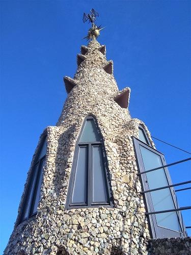スペイン・バルセロナにあるグエル邸の屋上