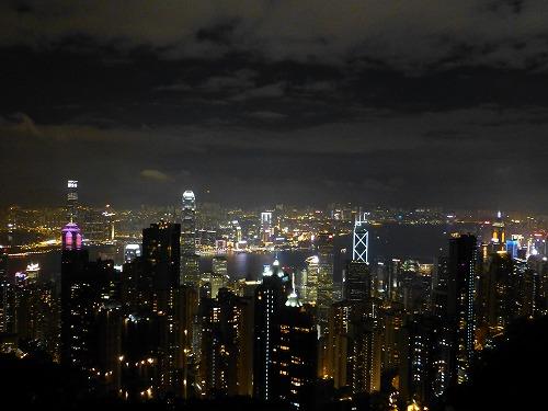 香港のビクトリアピークからの眺め