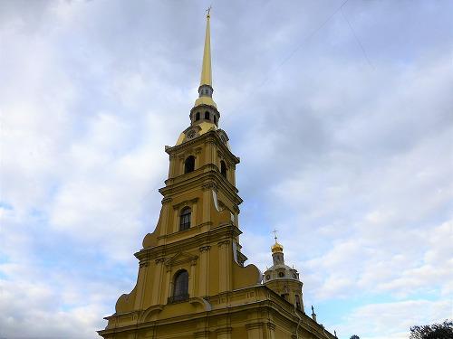 ロシア・サンクトペテルブルクのペトロパヴロフスク要塞のペトロパヴロフスク聖堂