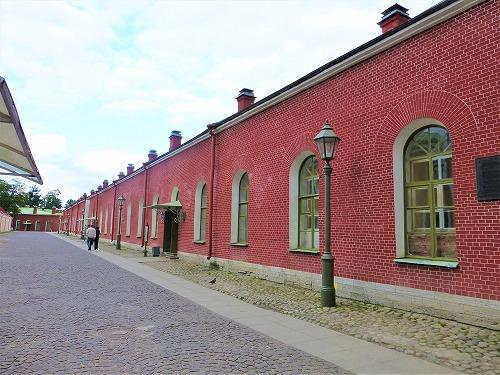 ロシア・サンクトペテルブルクのペトロパヴロフスク要塞の城壁