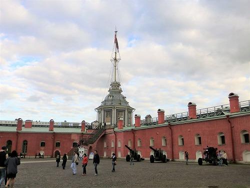ロシア・サンクトペテルブルクのペトロパヴロフスク要塞のナルィシキン稜堡