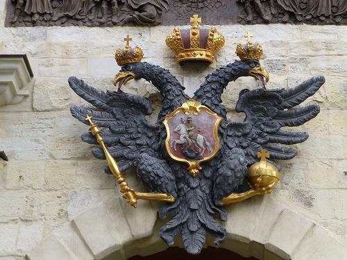 ロシア・サンクトペテルブルクのペトロパヴロフスク要塞のロシア国章