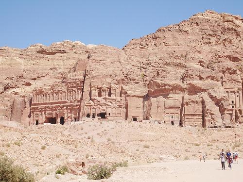 ペトラ遺跡(ヨルダン)の王家の墓(『壺の墓、シルクの墓、コリント式の墓、宮殿の墓、セクスティウス・フロレンティヌスの墓)