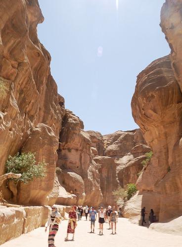 ペトラ遺跡(ヨルダン)のシーク