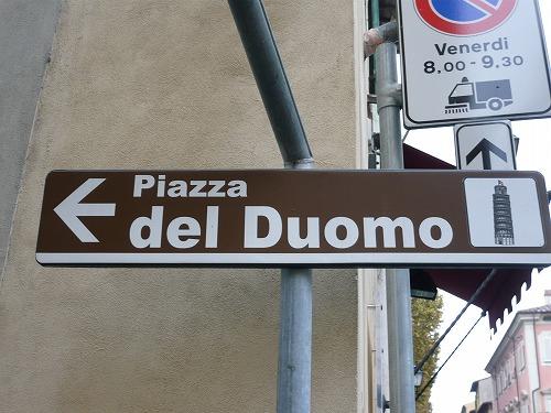 イタリア・ピサにある行き先案内板