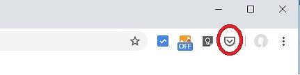 Googleクロームの拡張機能「Save to Pocket」