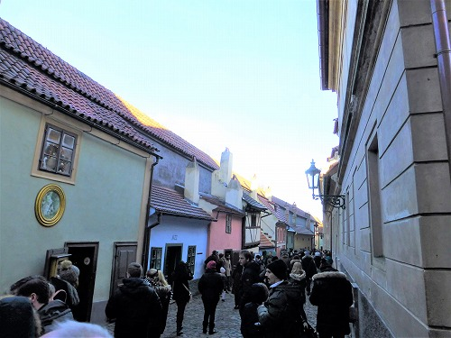 チェコ・プラハのプラハ城の黄金小道