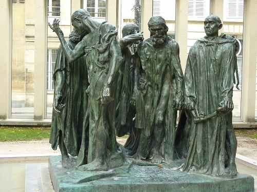 フランス・パリのロダン美術館に展示されている「カレーの市民」