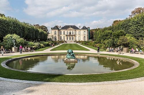 フランス・パリのロダン美術館の庭園