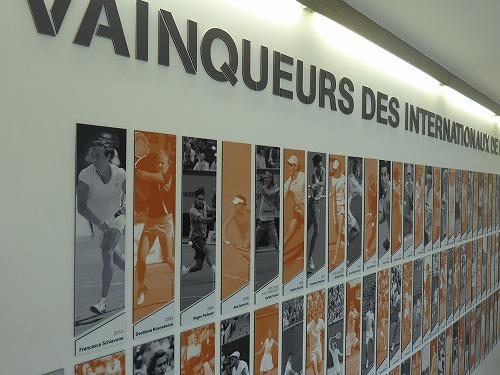 フランス・パリにあるローランギャロスに併設されている博物館の展示物