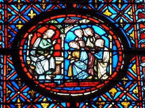 フランスのパリにあるサント・シャペルのステンドグラス