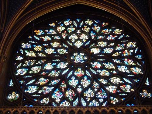 フランスのパリにあるサント・シャペルのバラ窓