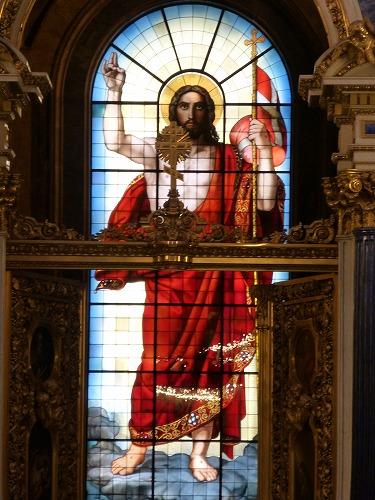 ロシア・サンクトペテルブルクのイサク大聖堂内部(ステンドグラス『キリストの復活』)