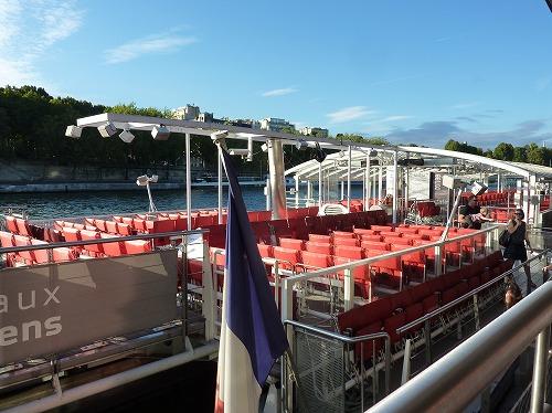フランス・パリのセーヌ川クルーズのクルーズ船(バトー・パリジャン)
