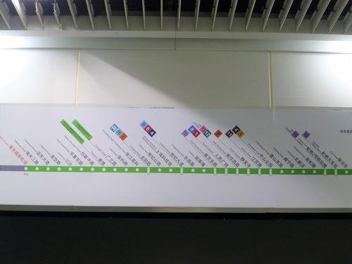 中国・上海の2号線の路線図
