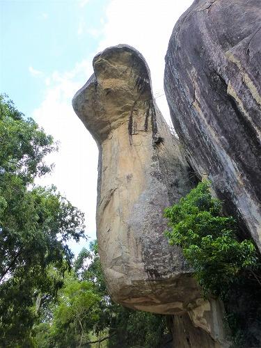 スリランカ・シーギリアロックのコブラ岩