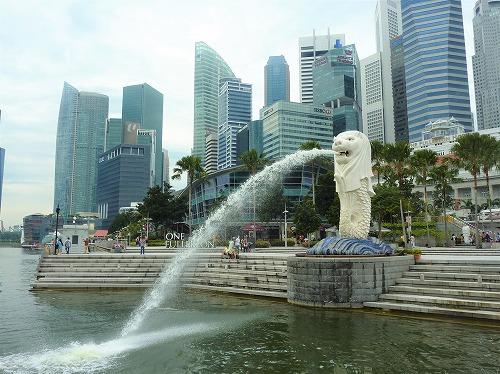 シンガポールのマーライオン公園にあるマーライオン