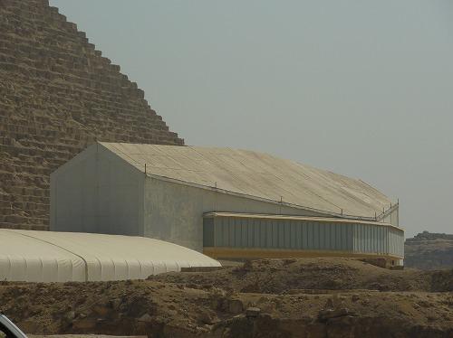 エジプト・ギザの太陽の船博物館の外観