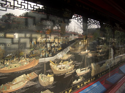 中国・蘇州にある北寺塔の展示物