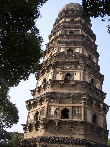 中国・蘇州にある虎丘の雲岩寺塔