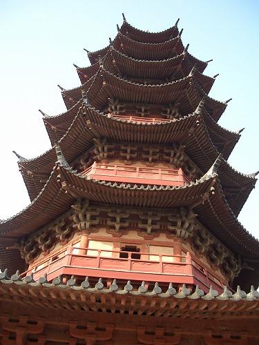 中国・蘇州にある盤門(塔)