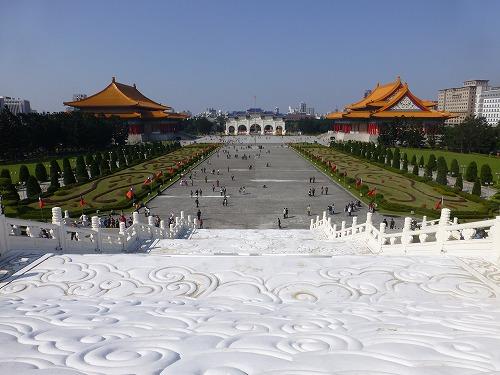 台湾・台北の中正紀念堂からの眺め