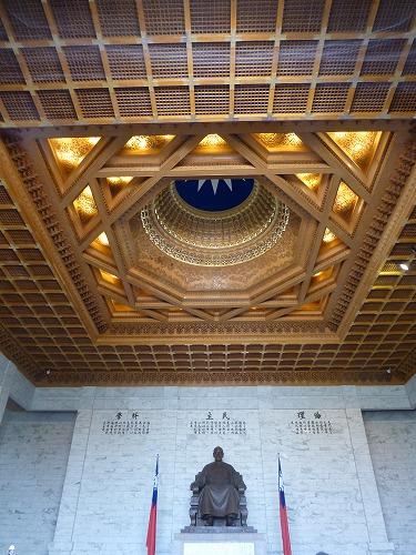 台湾・台北の中正紀念堂の紀念堂内部