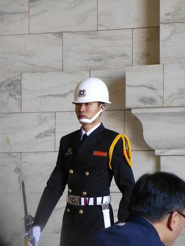 台湾・台北の中正紀念堂の衛兵