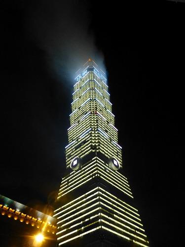台湾・台北101の年越し花火終了後