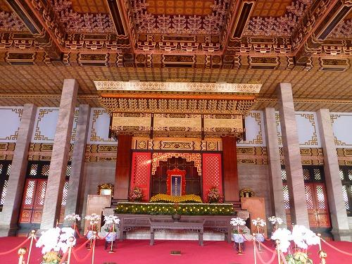 台湾・台北の忠烈祠の本堂