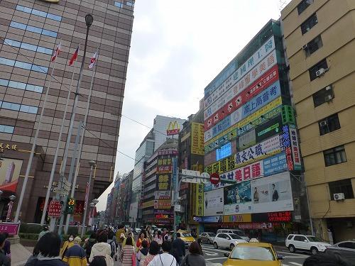 台湾・台北の台北駅付近