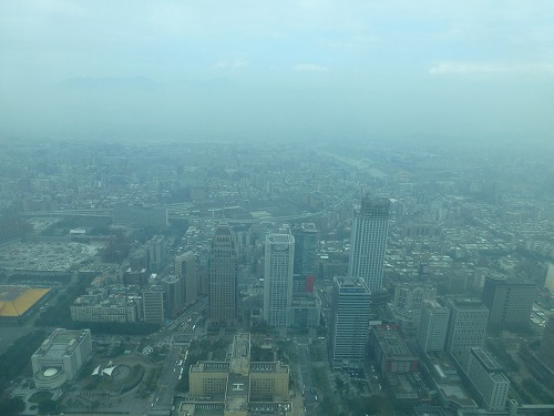 台湾の台北101の展望台からの眺め