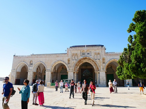 エルサレム(イスラエル)の神殿の丘に建つアル・アクサー・モスク