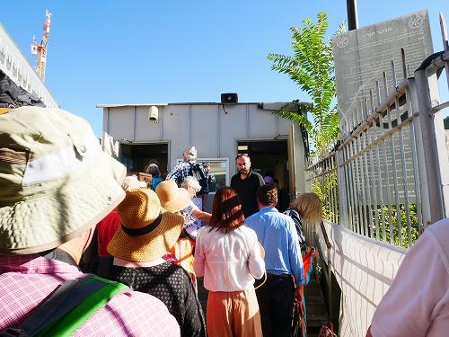 エルサレム(イスラエル)の神殿の丘入場前のセキュリティチェック