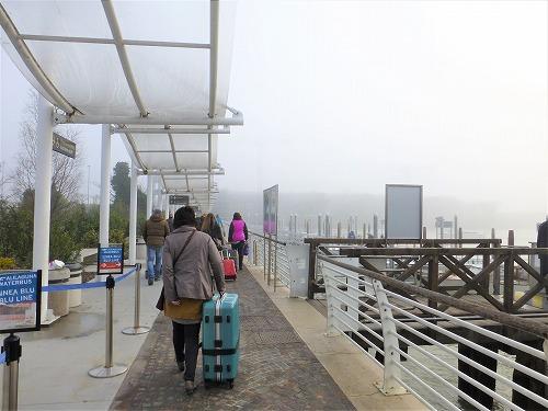 ベネチアのマルコ・ポーロ空港にある水上バス乗り場