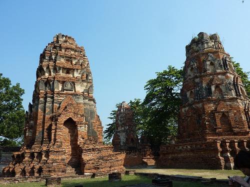 タイ・アユタヤ遺跡のワット・プラ・マハタートの仏頭