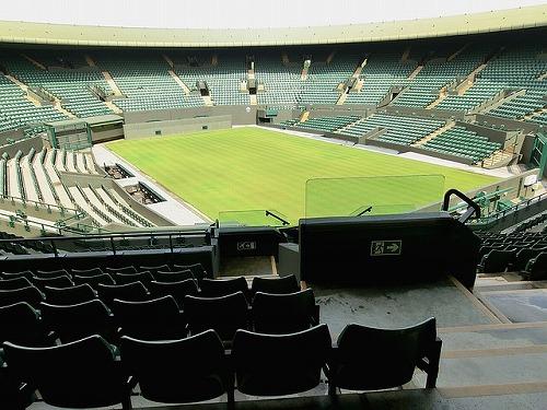 イギリスのウィンブルドン・ローン・テニス博物館のセンターコート
