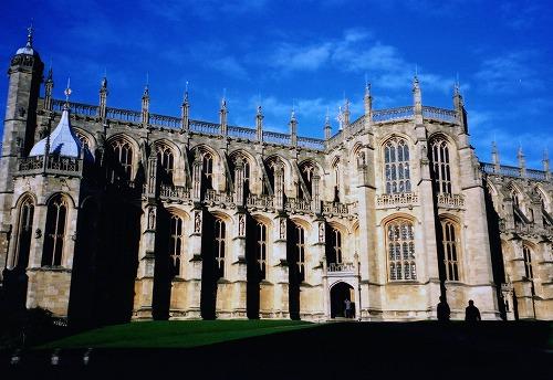 イギリスのウィンザー城のセント・ジョージ礼拝堂