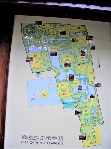 中国・上海の豫園の案内地図
