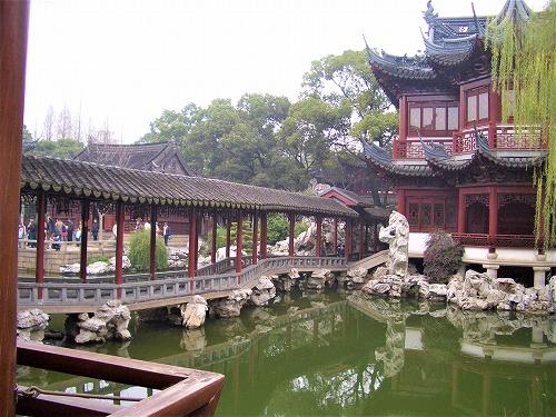 中国・上海の豫園にある積玉水廊