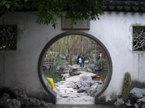 中国・上海の豫園の庭園エリア