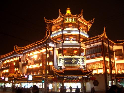 中国・上海の豫園エリアにある亜一金店